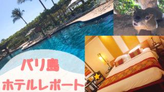 バリ島グランドハイアットバリのホテルレポート