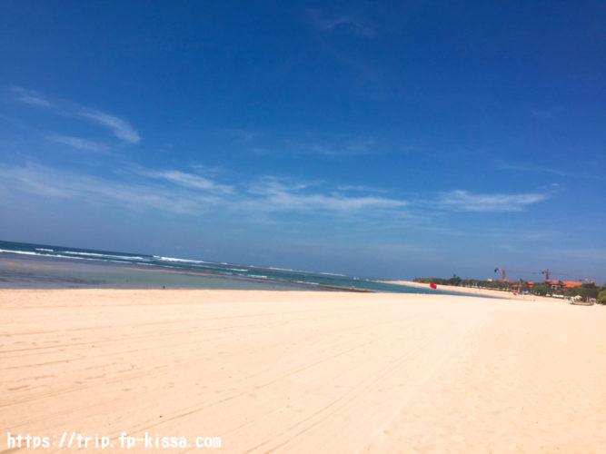 グランドハイアットバリのプライベートビーチ