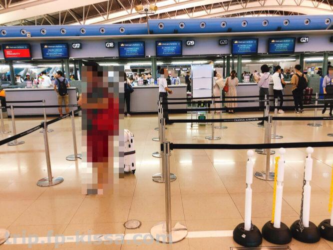 ダナン国際空港DAD行きチェックインカウンター