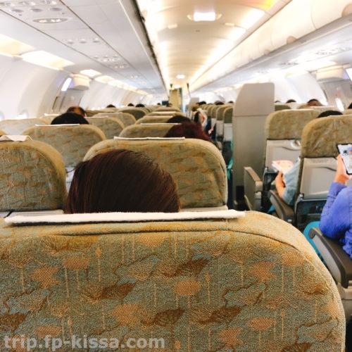 ベトナム航空のエコノミークラスは3列シート