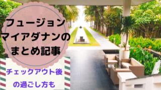 フュージョンマイアダナン【まとめ記事】チェックアウト後の過ごし方も!