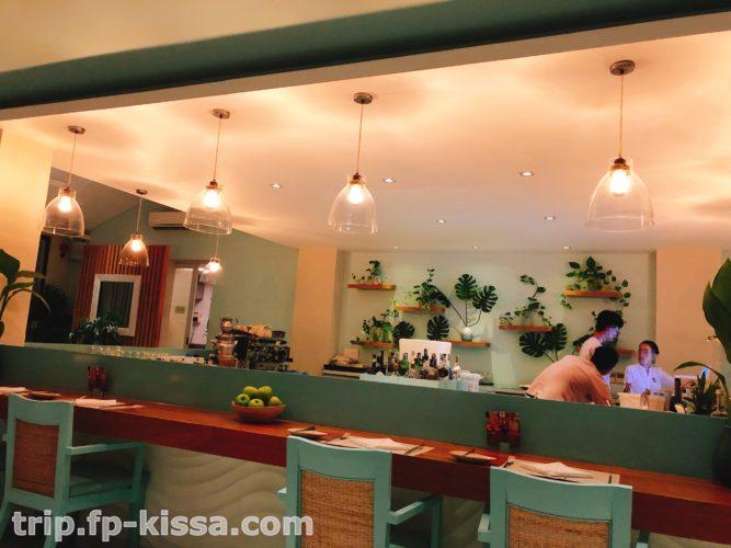 フュージョンマイアダナンのレストラン内の雰囲気